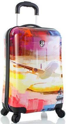 Компактный пластиковый 4-колесный чемодан 35 л. Heys Cruise (S) Multi Colour 923057, разноцветный
