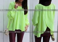 Блуза с запахом и длинными рукавами на манжете