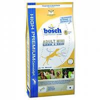 Корм для собак BOSCH Adult Mini Lamb Rice 15 кг для взрослых собак мелких пород