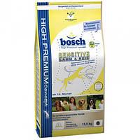 Корм для собак BOSCH Sensitive Lamb Rice 15 кг с диетическим ягненком и рисом