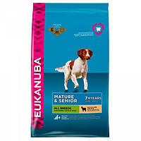 Корм для собак EUKANUBA Mature Senior Lamb Rice 12 кг для стареющих собак з ягнятиной