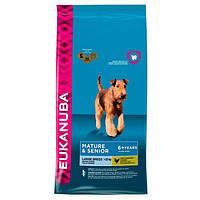 Корм для собак EUKANUBA Senior Large Breed 15 кг для стареющих собак крупных пород