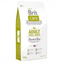 Корм для собак BRIT CARE ADULT SMALL 7.5 кг для мілких порід з ягням і рисом