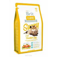 Корм для кошек (Бріт Кее) BRIT CARE Cat Adult Beautiful Hair Sunny 7 кг - для взрослых кошек для шерсти