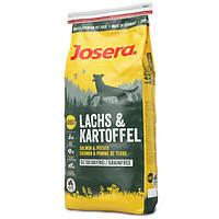 Корм для собак (Джозера) Josera Salmon & Potato 15 кг - для дорослих собак всіх порід з лососем і картоплею
