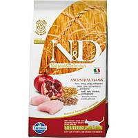 Корм для котів (Фарміна) FARMINA N&D Low Grain Neutered Cat Chicken 10 кг - для дорослих стерилізованих кішок