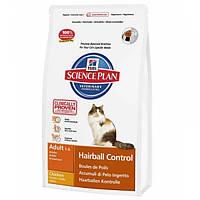 Корм для котів (Хілс)Hill's Hills Science Plan Feline Hairball Control Adult 5кг-для дорослих кішок від шерсті