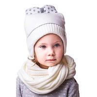 Красивая детская шапочка на девочку с бантиком