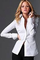 Женская блуза с планочкой на полочке и манжетами на рукавах