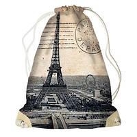 """Рюкзак-мешок с принтом """"Париж"""""""