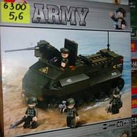 Детский конструктор военная серия,-танк 6300.