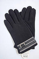 Черные перчатки с подкладкой из меха, фото 1