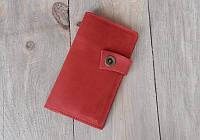 Женский кошелек портмоне Moon из натуральной кожи красный