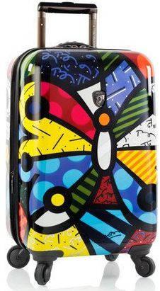 Компактный пластиковый 4-колесный чемодан 37 л. Heys Britto Butterfly (S) 923090, разноцветный