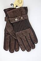 Замшевые перчатки на резинке, фото 1