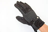 Мужские перчатки из комбинированого материала, фото 1