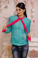 Куртка женская с шарфом № 2028