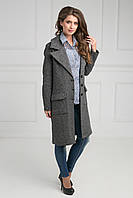 Женское пальто со шлицей без подкладки