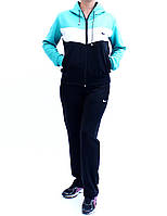 Женский спортивный костюм трикотажный со вставками