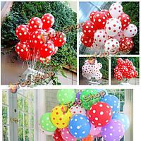 100шт 12-дюймовый свадьба воздушные шары свадьба зал точечные воздушные шары сторона украшение комнаты
