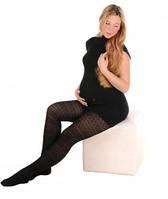 Колготки с узором для беременных 320 den
