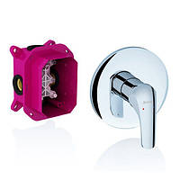 Смеситель скрытого монтажа для ванны, душа Ravak Rosa RS 066.00 для R-box без переключателя X070049