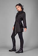 Кардиган-пальто из теплого трикотажа на меховой основе