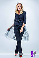 Женский костюм 4-ка: жакет, юбка, фатиновая юбка, брюки и пояс в комплекте