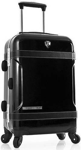 Компактный пластиковый 4-колесный чемодан 40 л. Heys Attitude (S) Black 922979, черный