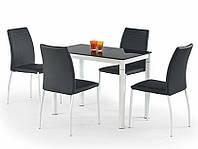 Кухонный стеклянный стол Halmar Argus черный