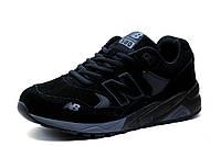 Кроссовки New Balance 580, мужские, замша, черные, р. 41 43 44 46