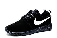 Кроссовки Nike Rosherun, мужские, замша, черные с белым, р. 41 43 44