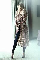 Рубашка-туника с леопардовым принтом
