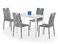 Стеклянный обеденный стол Argus от польской фирмы Halmar белый