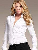 Стильная блуза с длинным рукавом и отворотом