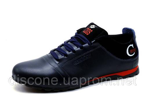 Туфли Cuddos, спортивные, мужские, натуральная кожа, синие, р. 40 42 44 45