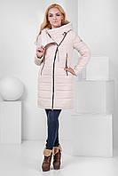 Модное молодежное зимнее пальто пуховик. Полупальто