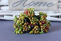 """Добавка """"сложные тычинки микс """" 10-12 шт/уп цвета """"зеленый + оливка + бордо"""""""