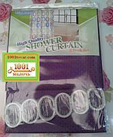 Шторка для ванной комнаты Shower curtain 3, однотонная фиолетовая