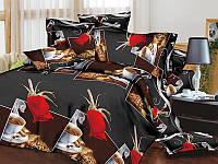 Комплект постельного белья ТЕП Resrline 3D (Черный, коричневый)