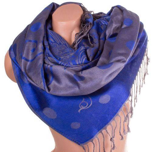 Привлекательный женский двусторонний палантин из пашмины 178 на 70 см ETERNO ES2707-6-7 синий