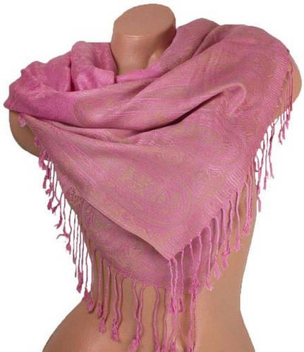 Очаровательный женский двусторонний палантин из пашмины 178 на 70 см ETERNO ES0206-2-6 розовый