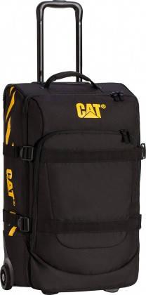 Дорожная сумка на колесах с выдвижной ручкой (57см./38л) CAT Wheel Loaders   83224 Черная