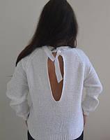 Вязанный свитер с вырезом на спине