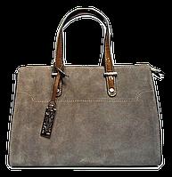 Красивая женская сумочка из натуральной замши и искусственой кожи