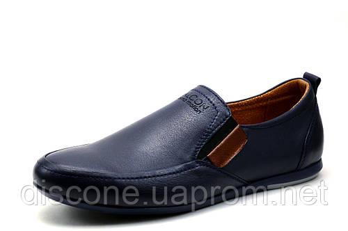 Туфли мужские Falcon, спортивные, натуральная кожа, синие, р. 45