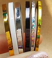 Набор цветного скотча 3 и 2 мм, 6 шт