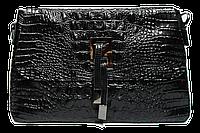 Оригинальная женская кожаная сумочка черного цвета SER-02