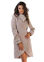 Женское кашемировое  пальто Фрак  беж