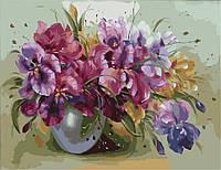 Картины рисование по номерам Букет ярких ирисов